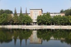 La vecchia biblioteca dell'università di Nankai Fotografia Stock