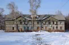 La vecchia casa di legno Immagini Stock Libere da Diritti