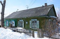 La vecchia casa di legno Immagine Stock