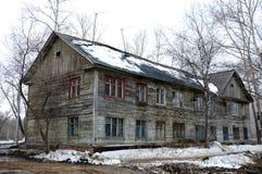 La vecchia casa di legno Fotografia Stock