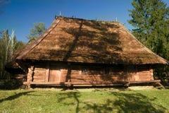 La vecchia casa in legno Fotografia Stock