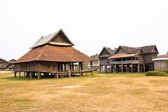 La vecchia casa nel Laos Fotografia Stock Libera da Diritti