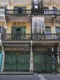 La vecchia casa a schiera Cino-portoghese fotografie stock libere da diritti