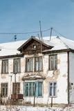La vecchia casa sprofondante Fotografie Stock Libere da Diritti