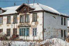 La vecchia casa sprofondante Fotografia Stock