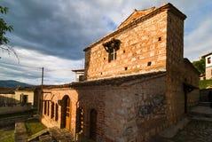 La chiesa di St Stephen a Kastoria, Grecia fotografia stock