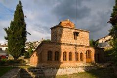 La chiesa di St Stephen a Kastoria, Grecia immagine stock libera da diritti