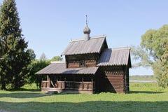 La vecchia chiesa di legno Fotografia Stock