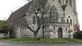 La vecchia chiesa a Londra archivi video