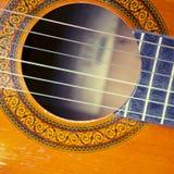La vecchia chitarra Immagini Stock Libere da Diritti