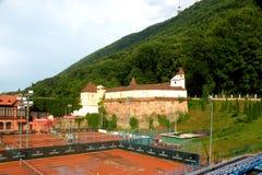 La vecchia città Brasov (Kronštadt), in Transilvania Fotografia Stock