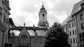La vecchia città a Bratislava Fotografia Stock Libera da Diritti