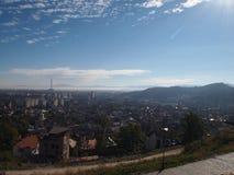 La vecchia città della città rumena brasov Fotografia Stock