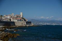 La vecchia città di Antibes fotografia stock libera da diritti