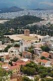La vecchia città di Atene Immagine Stock Libera da Diritti