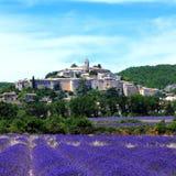 La vecchia città di banon, Francia Fotografia Stock
