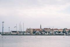 La vecchia città di Budva Fotografie Stock