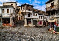 La vecchia città di Gjirokaster, Albania Immagini Stock
