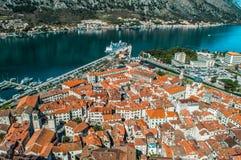 La vecchia città di Kotor Immagine Stock