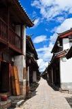La vecchia città di Lijiang, provincia di Yunnan, Cina Immagine Stock Libera da Diritti