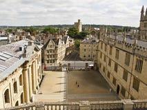 La vecchia città di Oxford, Inghilterra, Immagini Stock