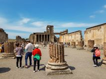La vecchia città di Pompei, Italia fotografie stock