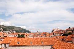 La vecchia città di Ragusa, Croazia, veduta da sopra Fotografia Stock