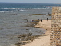 La vecchia città di San Giovanni d'Acri, Israele immagini stock libere da diritti
