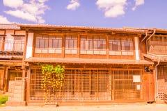 la vecchia città di Unno-juku è una città di posta e dozzine di vecchie costruzioni meravigliosamente sono state conservate per i fotografia stock libera da diritti