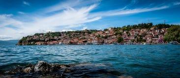 La vecchia città Ocrida Immagini Stock Libere da Diritti