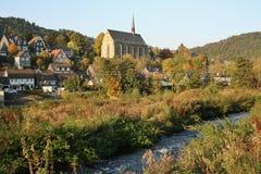 La vecchia città pittoresca di Beyenburg Fotografia Stock Libera da Diritti