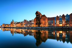 La vecchia città a Danzica Fotografia Stock