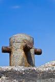 La vecchia colonna concreta su un pilastro Immagine Stock Libera da Diritti