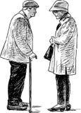 La vecchia conversazione dei cittadini illustrazione vettoriale