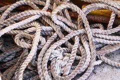 La vecchia corda della barca Fotografia Stock Libera da Diritti