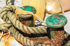 La vecchia corda della barca Immagine Stock Libera da Diritti