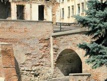 La vecchia corte di Bucarest Fotografia Stock