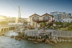 La vecchia costruzione classica sul lungomare di Wellington ora ha servito da sede di Wellington's per gli eventi, le funzioni  Fotografia Stock