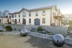 La vecchia costruzione classica sul lungomare di Wellington ora ha servito da sede di Wellington's per gli eventi, le funzioni  Fotografia Stock Libera da Diritti