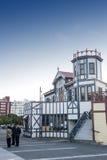 La vecchia costruzione classica sul lungomare di Wellington ora ha servito da Wellington Rowing Club Fotografia Stock Libera da Diritti