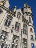 La vecchia costruzione dell'ufficio postale a Liegi, Belgio, vista parziale esteriore immagini stock libere da diritti