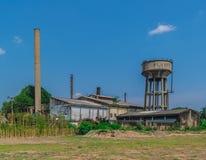 La vecchia costruzione della fabbrica di nuovo industriale in Tailandia 40 anni fa Fotografia Stock Libera da Diritti