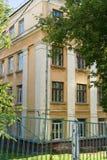 La vecchia costruzione gialla Fotografie Stock Libere da Diritti
