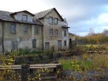 La vecchia costruzione, la decorazione per il film Fotografie Stock Libere da Diritti