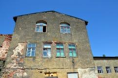 La vecchia costruzione nella regione di Kaliningrad in Russia Fotografia Stock Libera da Diritti