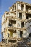 La vecchia costruzione sta demolenda Immagine Stock