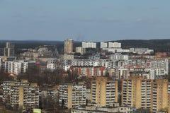 La vecchia era sovietica alloggia il panorama a Vilnius Immagine Stock Libera da Diritti