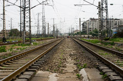 La vecchia ferrovia Immagine Stock