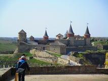 La vecchia fortezza, Kamenets-Podolskiy, Ucraina Fotografia Stock