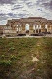 La vecchia grande basilica in Pliska Il più grande in Europa sudorientale medievale immagine stock